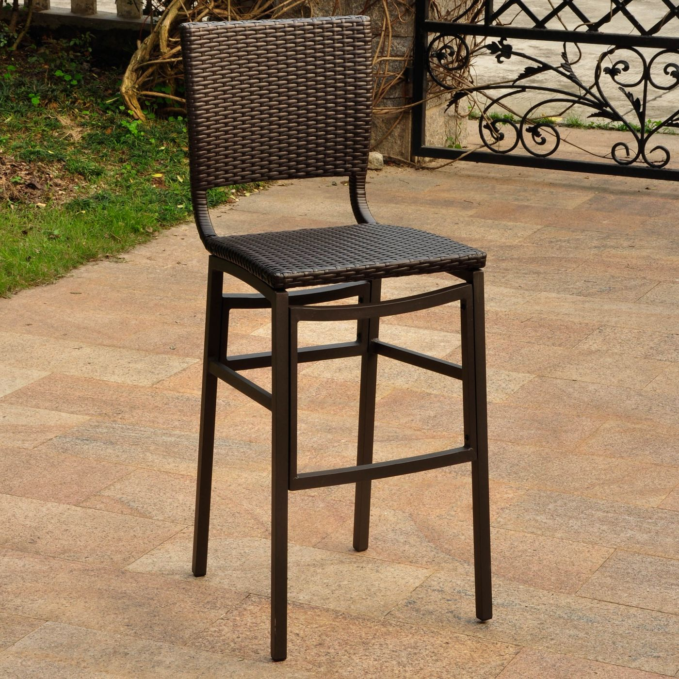 International Caravan 4215 2ch Barcelona Outdoor Bar Stool Set Of 2 Atg S