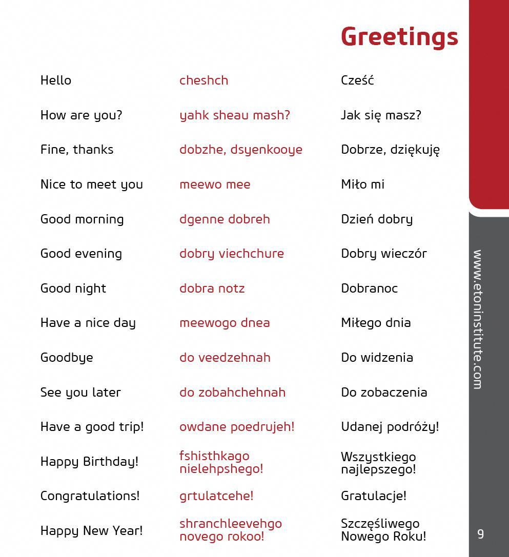 how to greet in polish