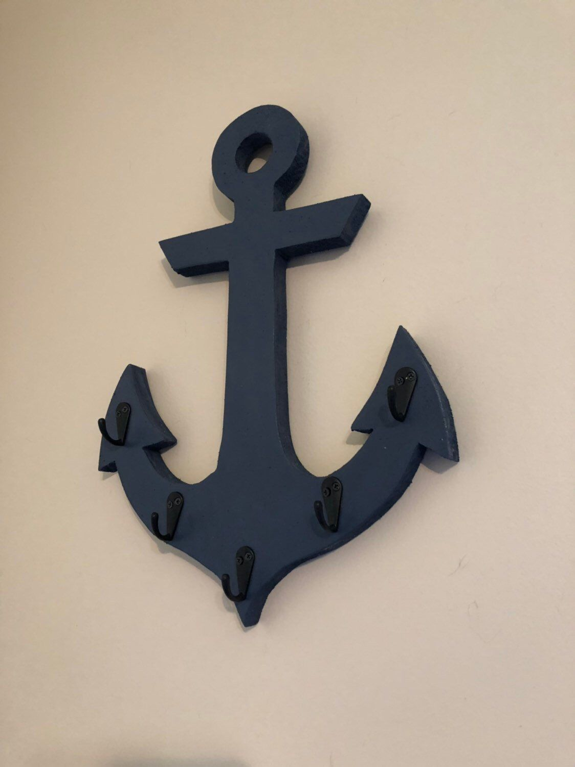 Wooden Anchor With Hooks Wooden Anchor Anchor Decor Nautical Nursery Nautical Decor Wood Anchor Anchor Wall Art Anchor Nautical Decor Nautical Theme Decor Wood Anchor Anchor Wall Art