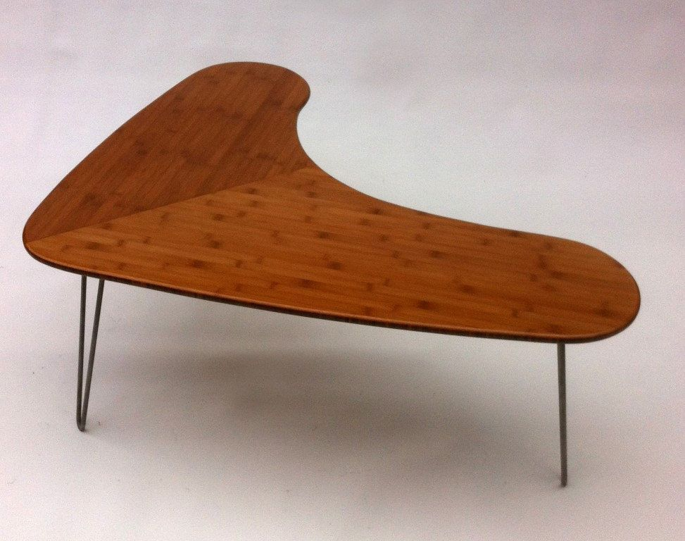 mid century modern bamboo boomerang