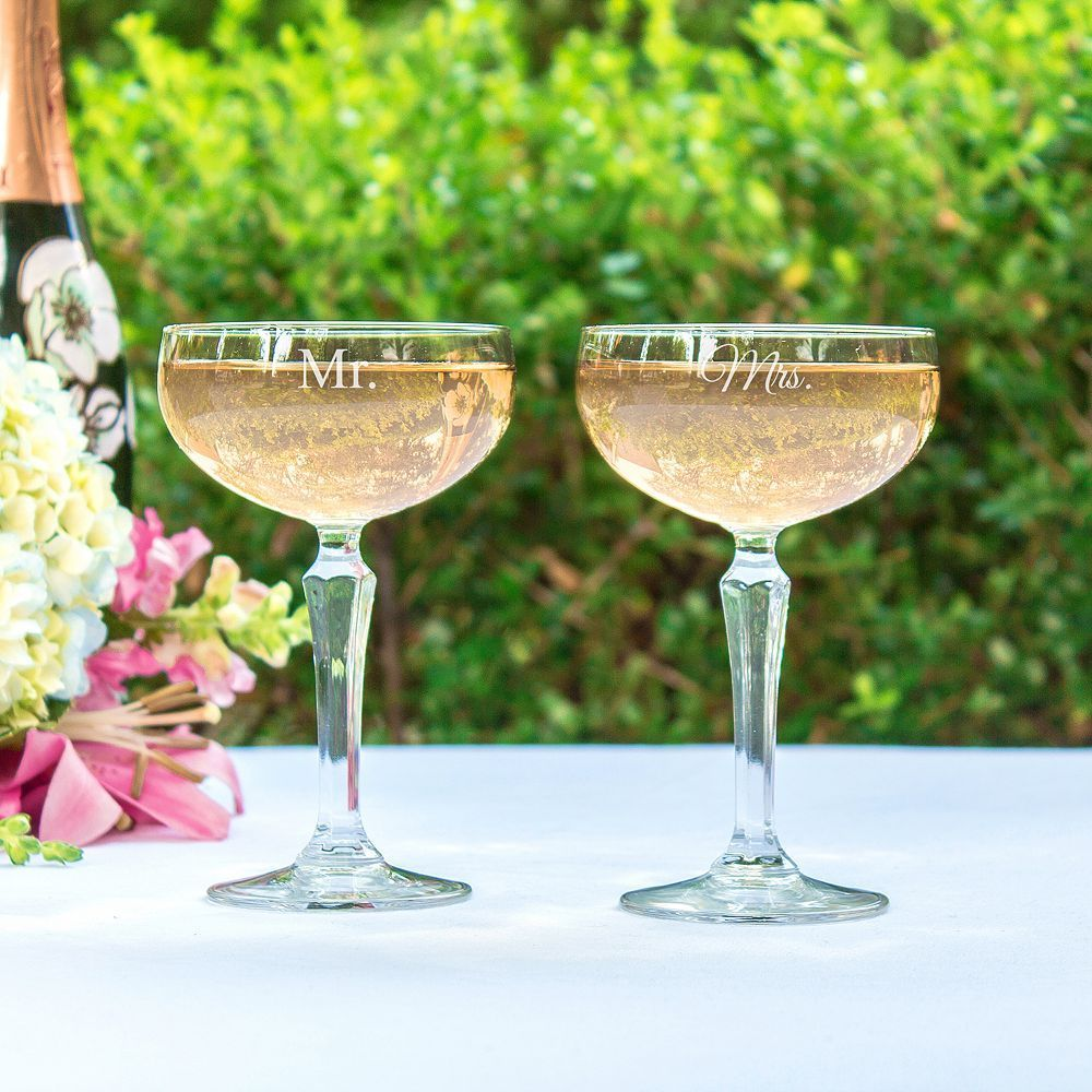 Cathy's Concepts Couples 2-pc. Coupe Champagne Glass Set, Multicolor