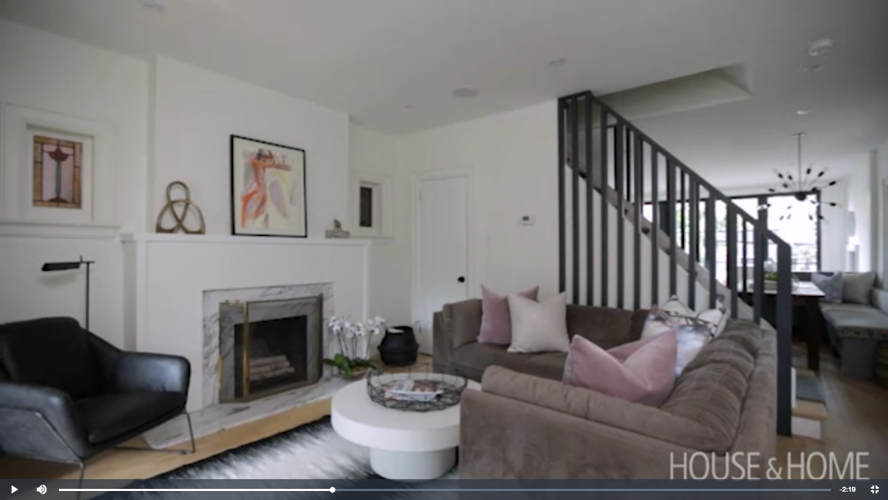 How To Brighten Up A Small, Dark Main Floor H&H floor to ceiling railings