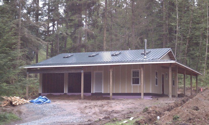 Pole Barn Garage With Porch Of Whidbey Island Inc Quality