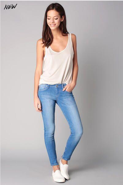 Jean 7/8 slim délavé Bleu Pepe Jeans - Jeans Femme Monshowroom -  Ventes-pas-cher.com