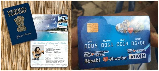 Passport and atm card style wedding card wedding card design delhi passport and atm card style wedding card stopboris Choice Image