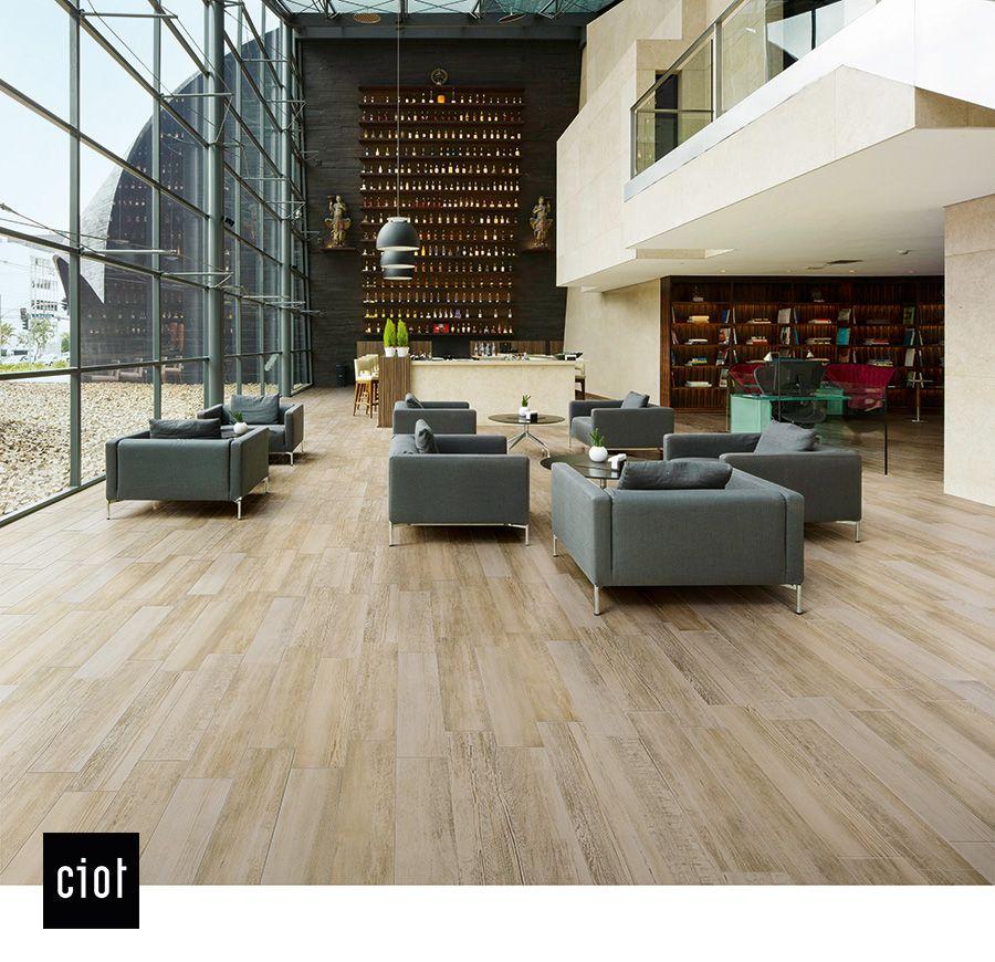 Barn Wood Beige Wood Floor Tile Commercial Office Barnwood