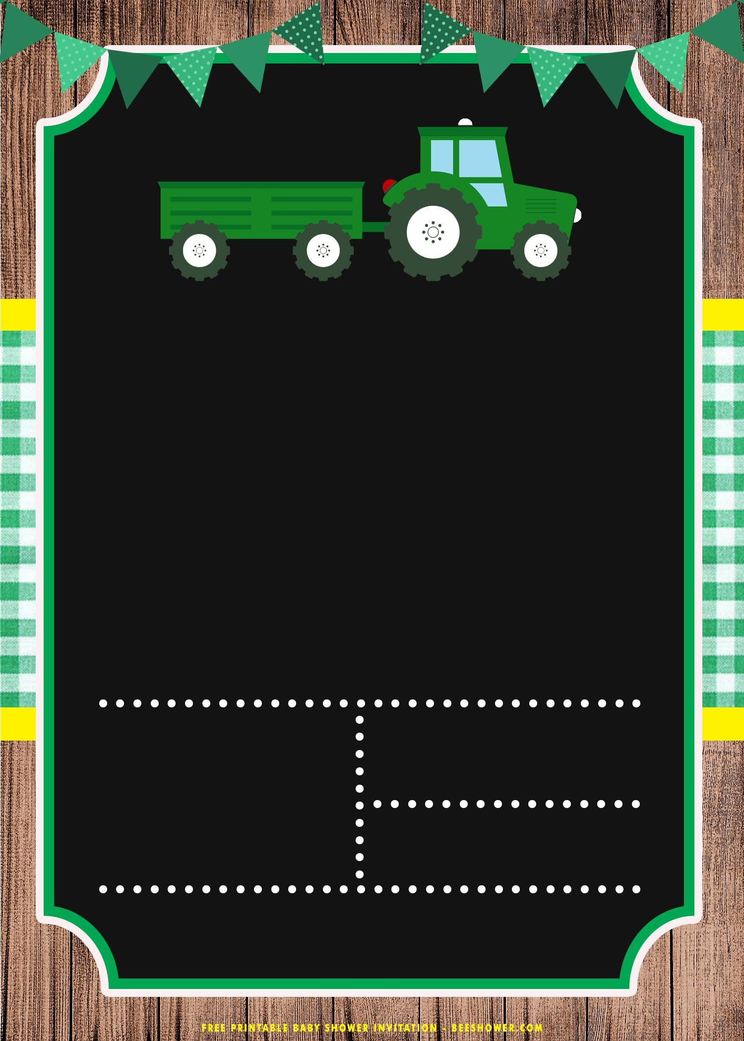 Free Printable Cute Tractor Birthday Invitation Templates Tractor Birthday Invitations Tractor Birthday Tractor Birthday Party