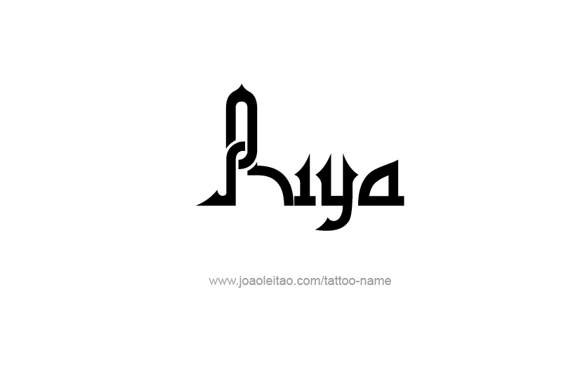 Riya Name Tattoo Designs Name Tattoos Name Tattoo Names