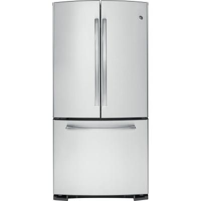 GE 33 In. W 22.7 Cu. Ft. French Door Refrigerator In Stainless Steel