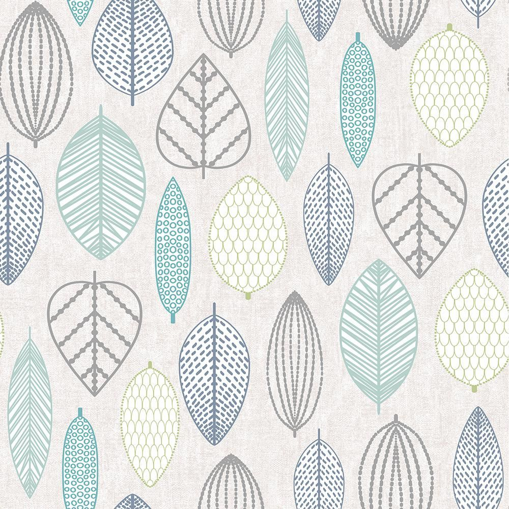 Superfresco Easy Highland Scandi Leaf Vinyl Strippable Roll Covers 56 Sq Ft 103171 The Home Depot In 2021 Leaf Wallpaper Scandi Wallpaper Blue Wallpapers