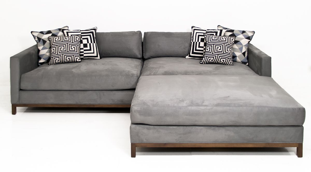 Extra New Deep Sectional In Charcoal Velvet In 2020 Deep