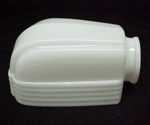 Milk glass art deco bathroom light shade for wall fixture - Art deco bathroom lighting fixtures ...