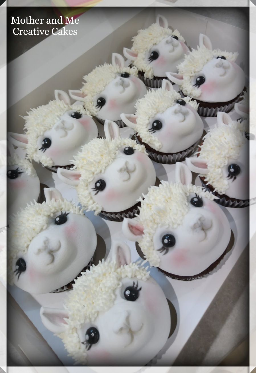 Alpaca Cupcakes By Mother And Me Creative Cakes Cupcake Cakes