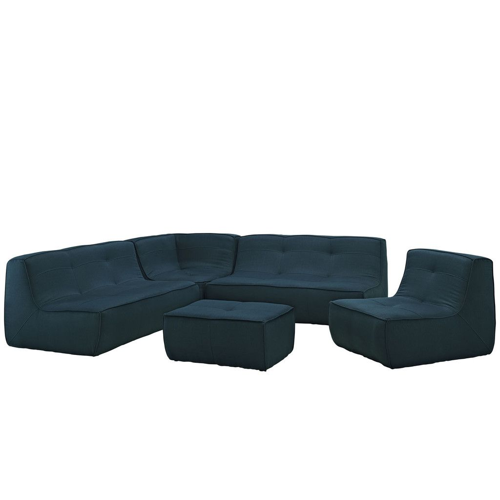 Modway Align 5 Piece Upholstered Sectional Sofa Set – Modish Store