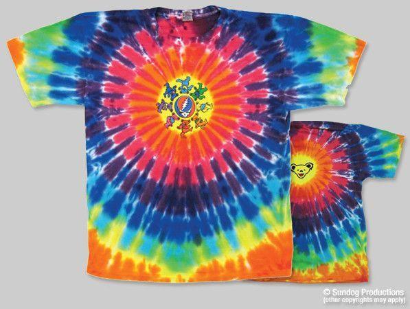 Grateful Dead Circle Bear Tie Dye T-shirt