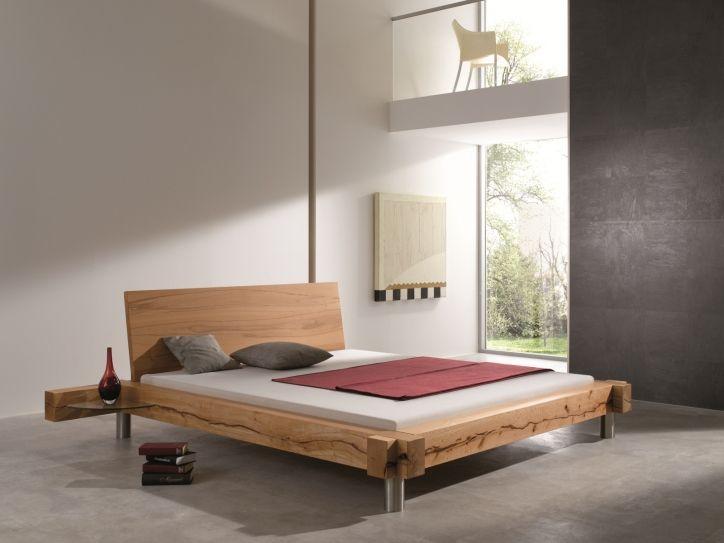 BALKENBETT Normannstein E - modern wood bed designs BettKonzept