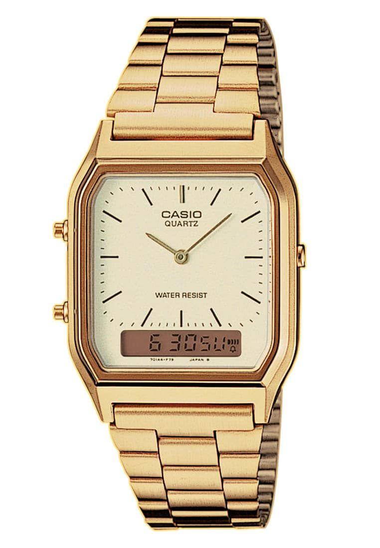 Uhr Gold Zalando De Casio Uhr Goldene Armbanduhr Casio Gold