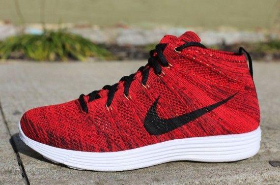 info for d702f 9e231 Nike Lunar Flyknit Chukka University Red Black