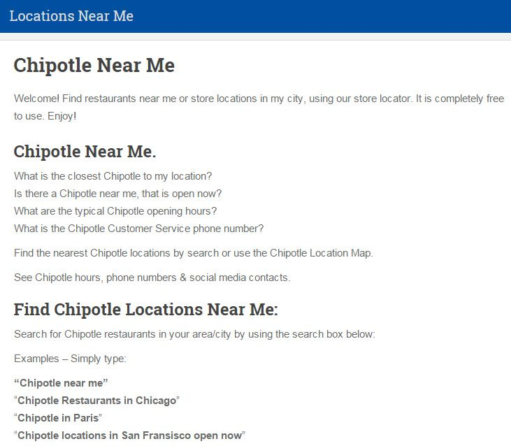 Find Chipotle Locations Near Me Chipotle Near Me Chipotle Near Me Location Finder Business Reviews