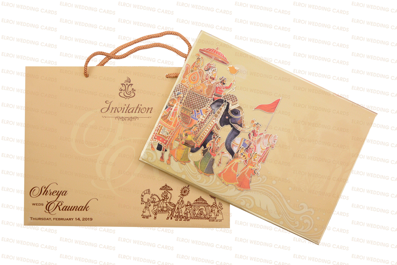 Bag Type Elephant Theme Wedding Invitation Card Elroi