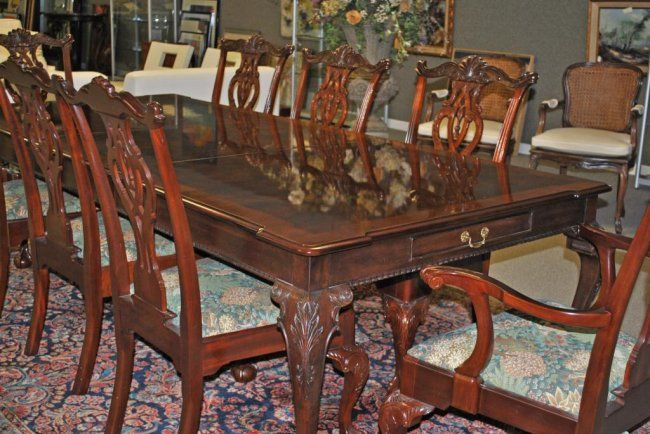 319: chippendale dining table by henredon | Dining table ...
