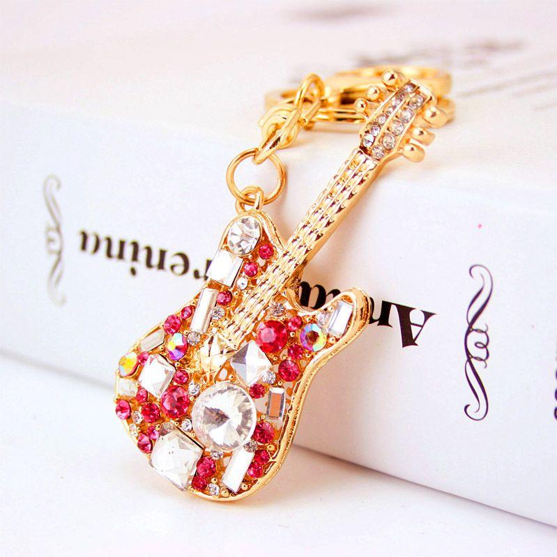 New Jewelry Pig Wings Keyring Rhinestone Crystal Charm Pendant KeyChain Bag Gift