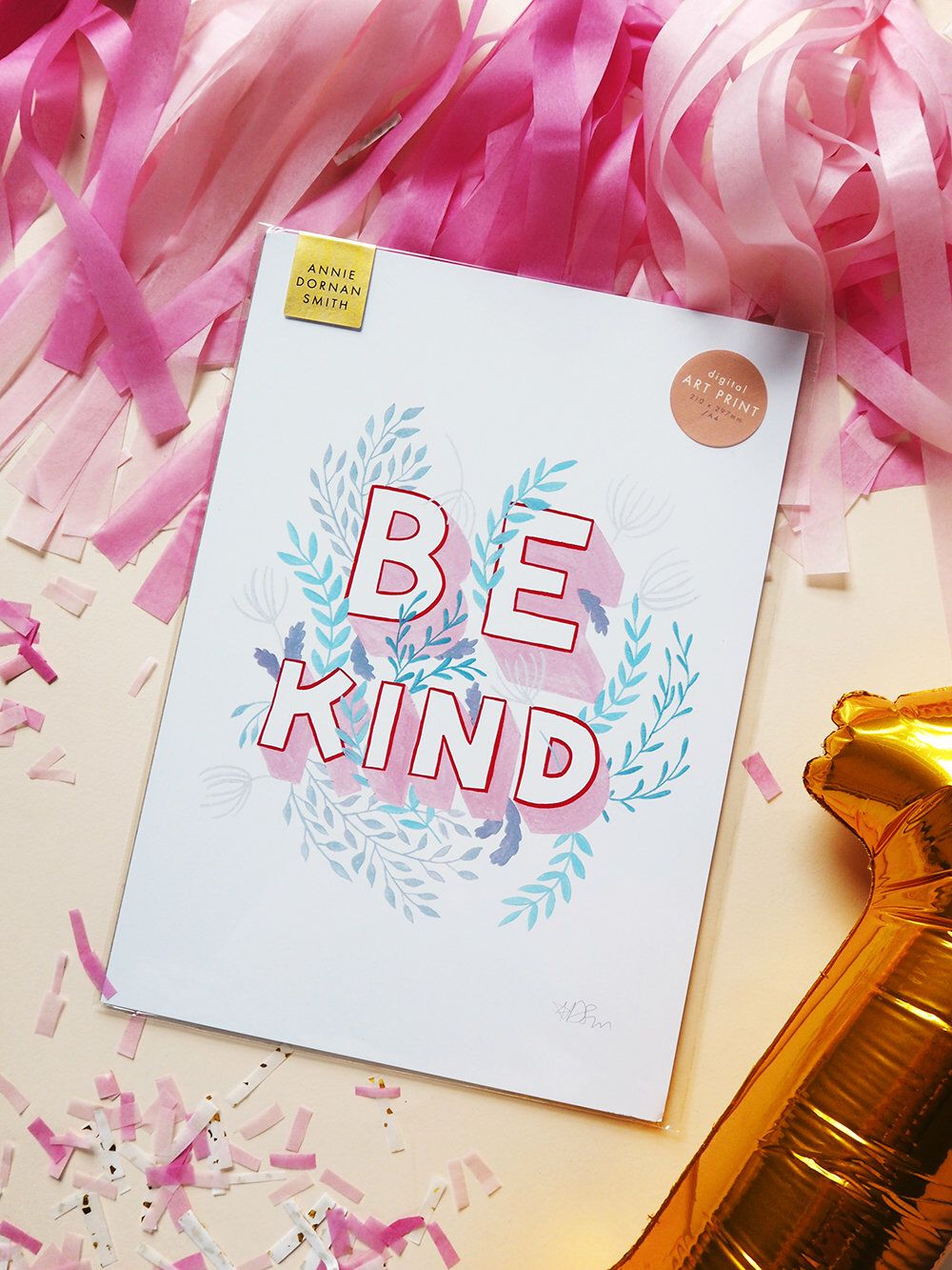 Download Be Kind Inspirational Self Care Print | Hand Lettered Hand ...