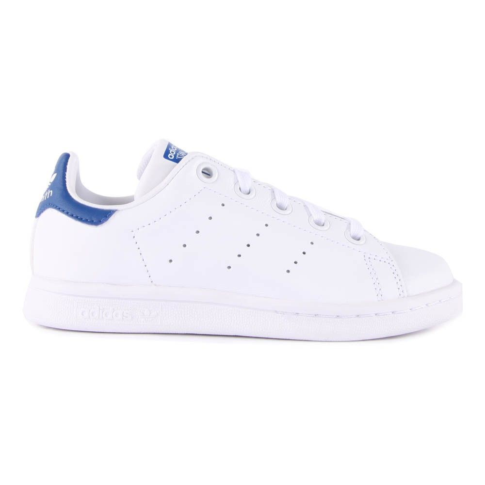 Baskets Lacets Cuir Stan Smith Bleu marine | Baskets en cuir ...