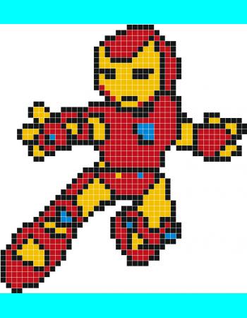 Iron Man Pixel Art Stickaz Pixel Art Pixel Art Facile
