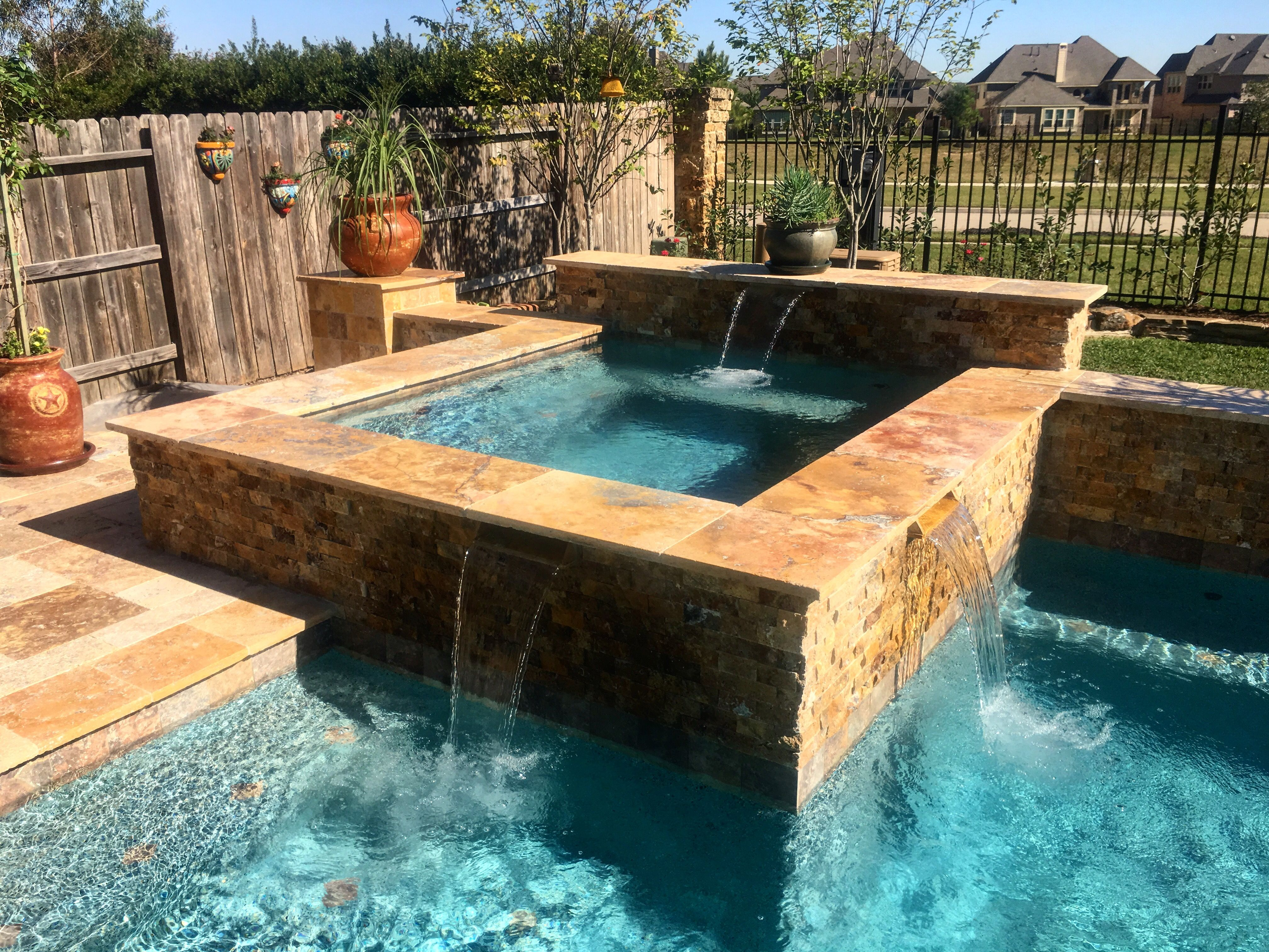 Custom spa! The beauty of designing pools are the outcomes ...