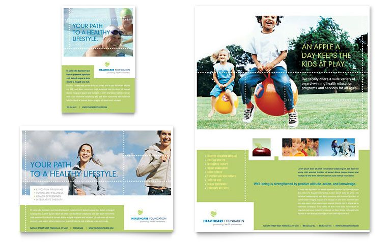 HR Consulting Flyer \ Ad Template Design Layouts Pinterest - healthcare brochure