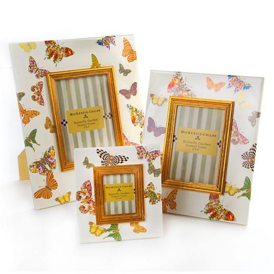 "Butterfly Garden 4"" x 6"" Frame - White"
