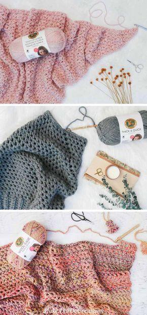Presto 45 Hour Afghan Free Fast Crochet Blanket Pattern
