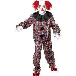 Quatang Gallery- Costume Homme Clown Effrayant Deguisement Horreur Deguisement Halloween Deguisement De Clown Effrayant