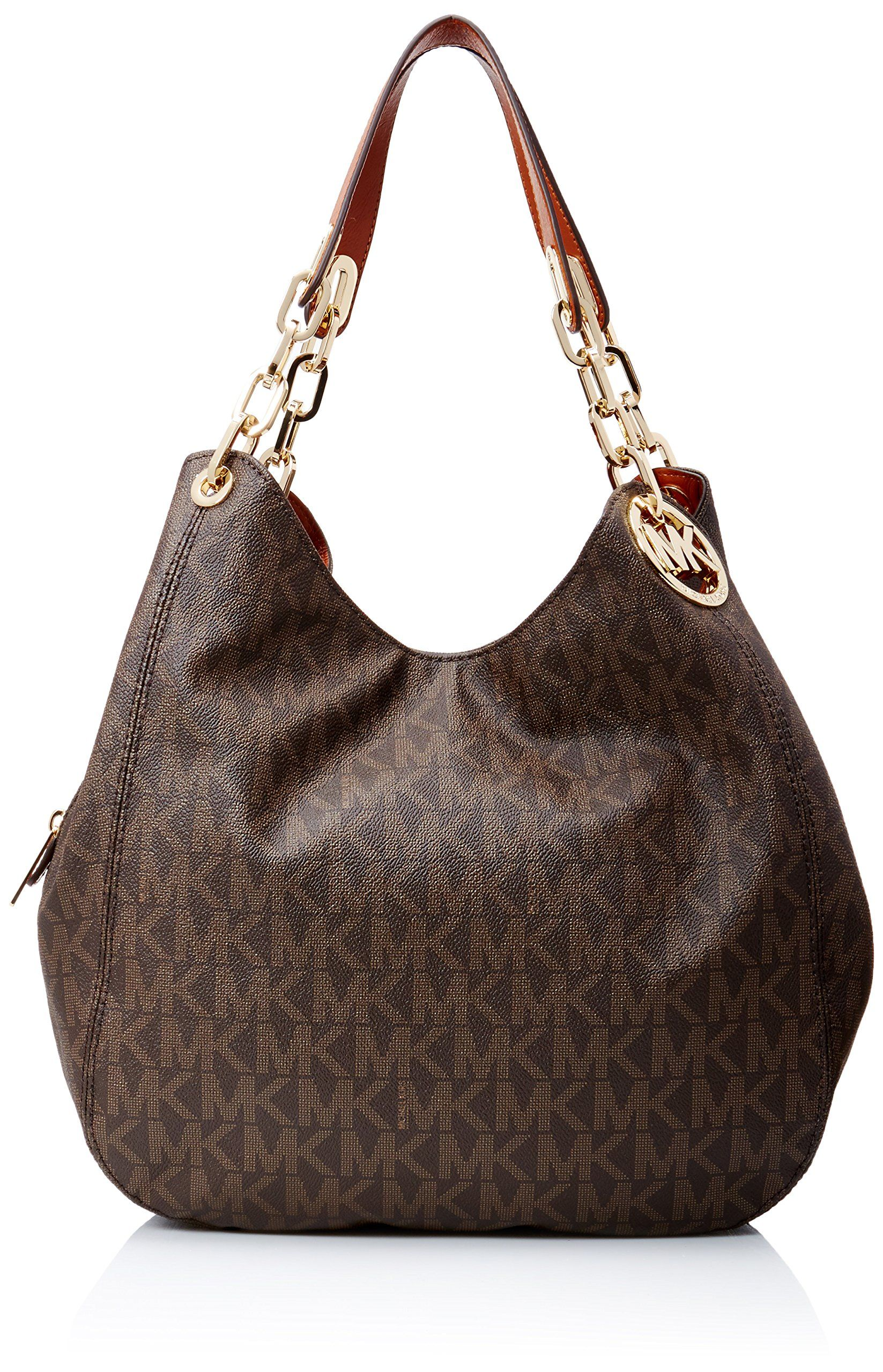 008b1f621e486 Michael Kors Fulton Large Leather Shoulder Bag