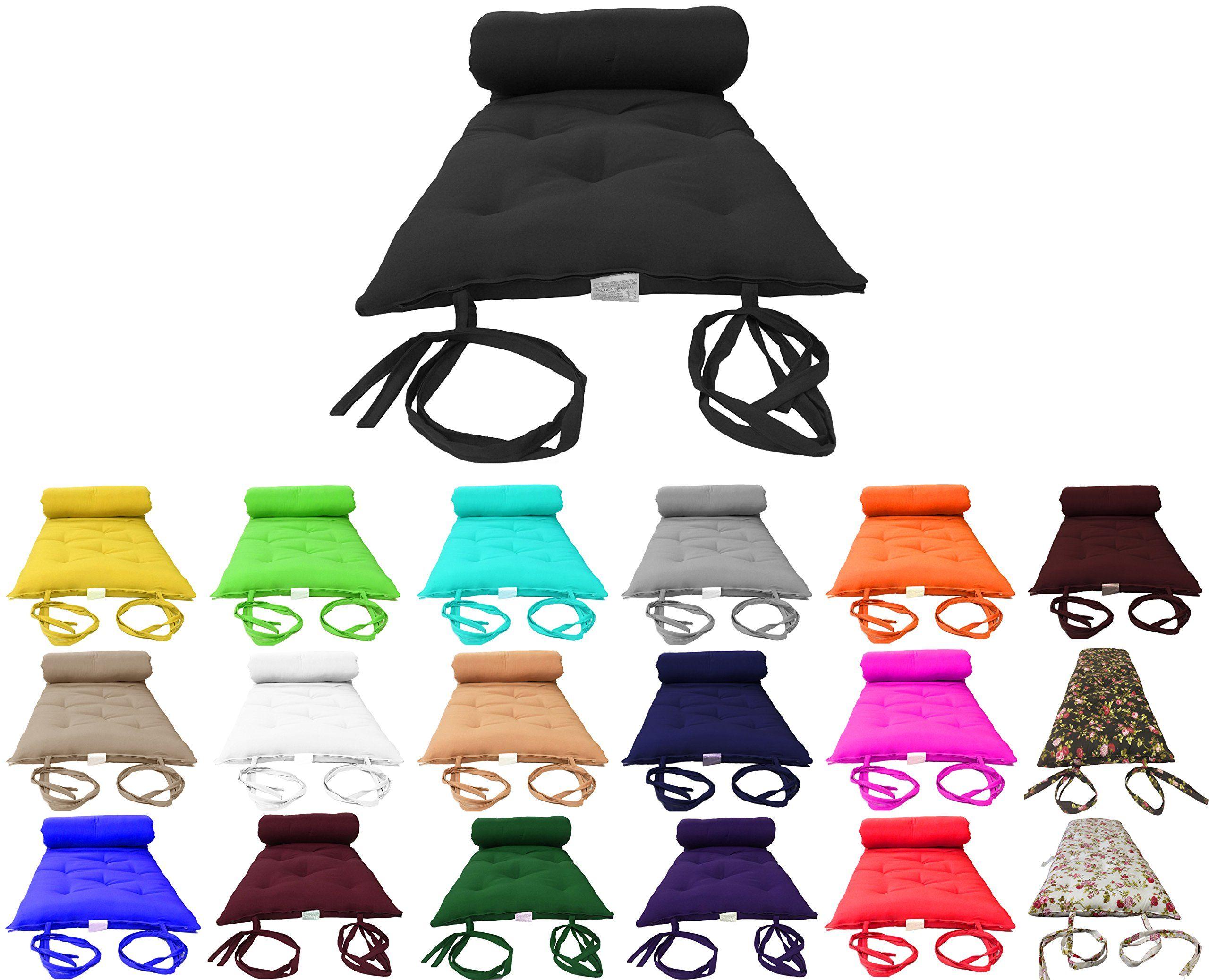 Com Brand New Black Traditional Japanese Floor Futon Mattresses Foldable Cushion Mats