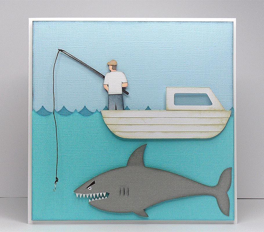 Fin Tastic Fishing Cards Fishing Birthday Cards Cricut Cards