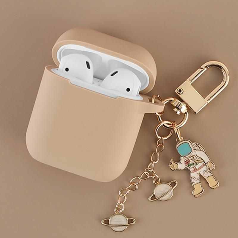 Cosmic Astronaut Spaceman Silicone Case for Apple Airpods 1 2  Accessories Case Protective Cover Bag Box Earphone Case Key ring - High quality 5