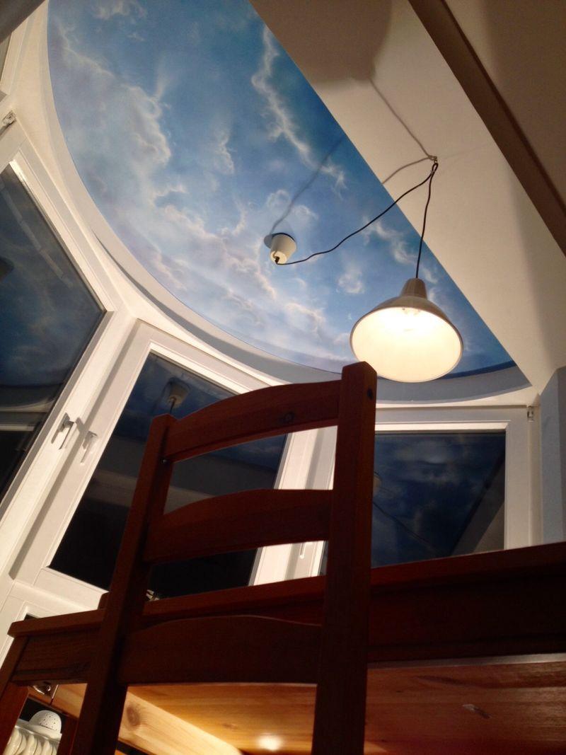 Deckenmalerei als himmel mit wolken von florian geyer malerei wandmalerei - Wandmalerei wohnzimmer ...