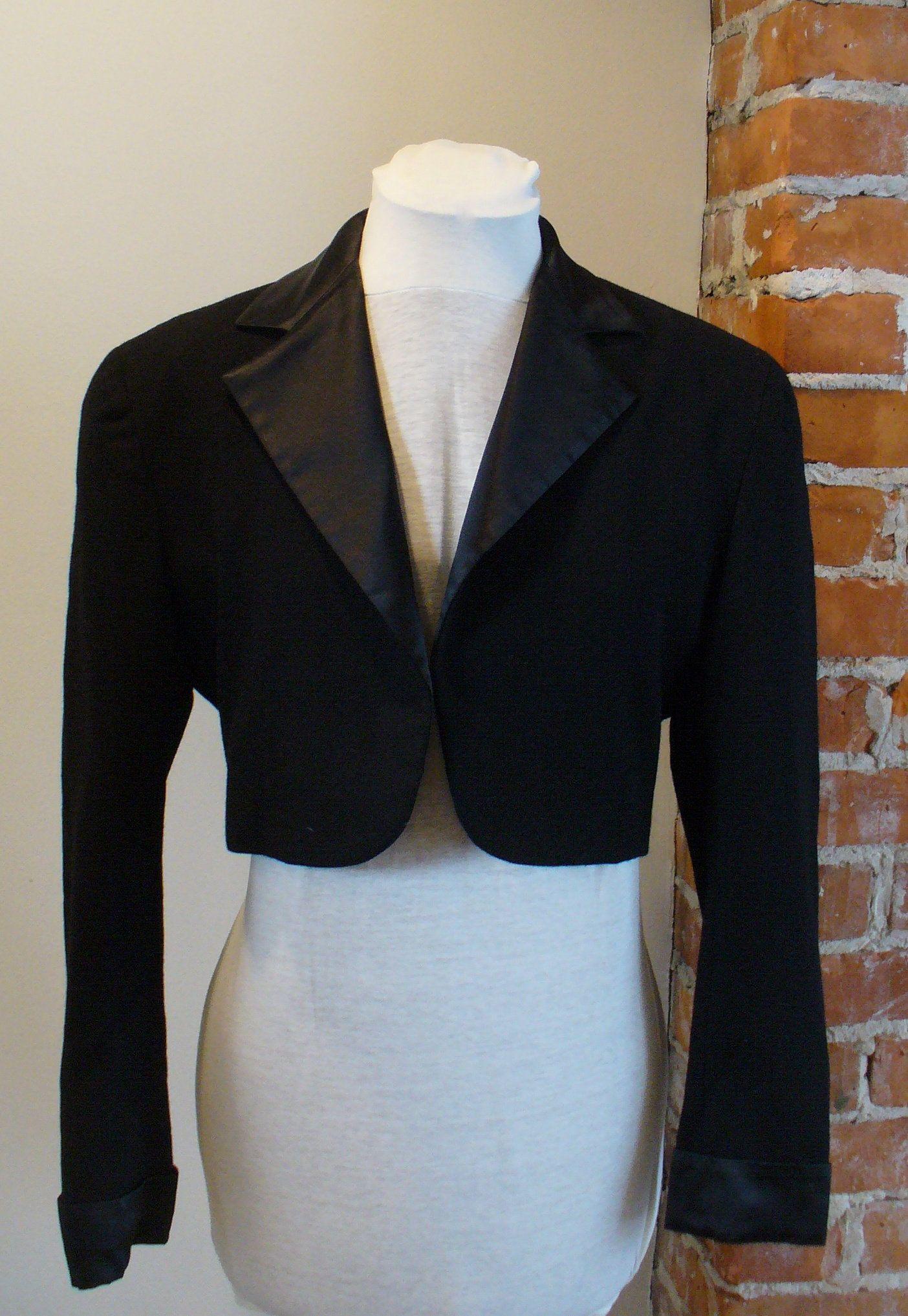 Ralph Lauren Cropped Tuxedo Jacket Size 4 by