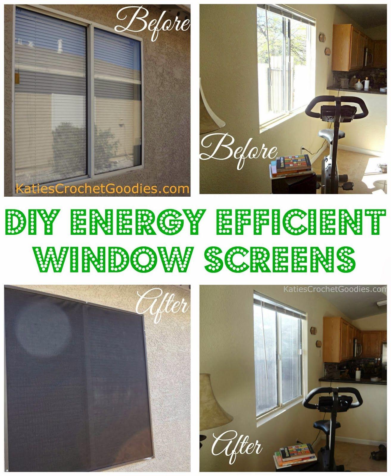 Diy Energy Efficient Window Screens Diy Ideas
