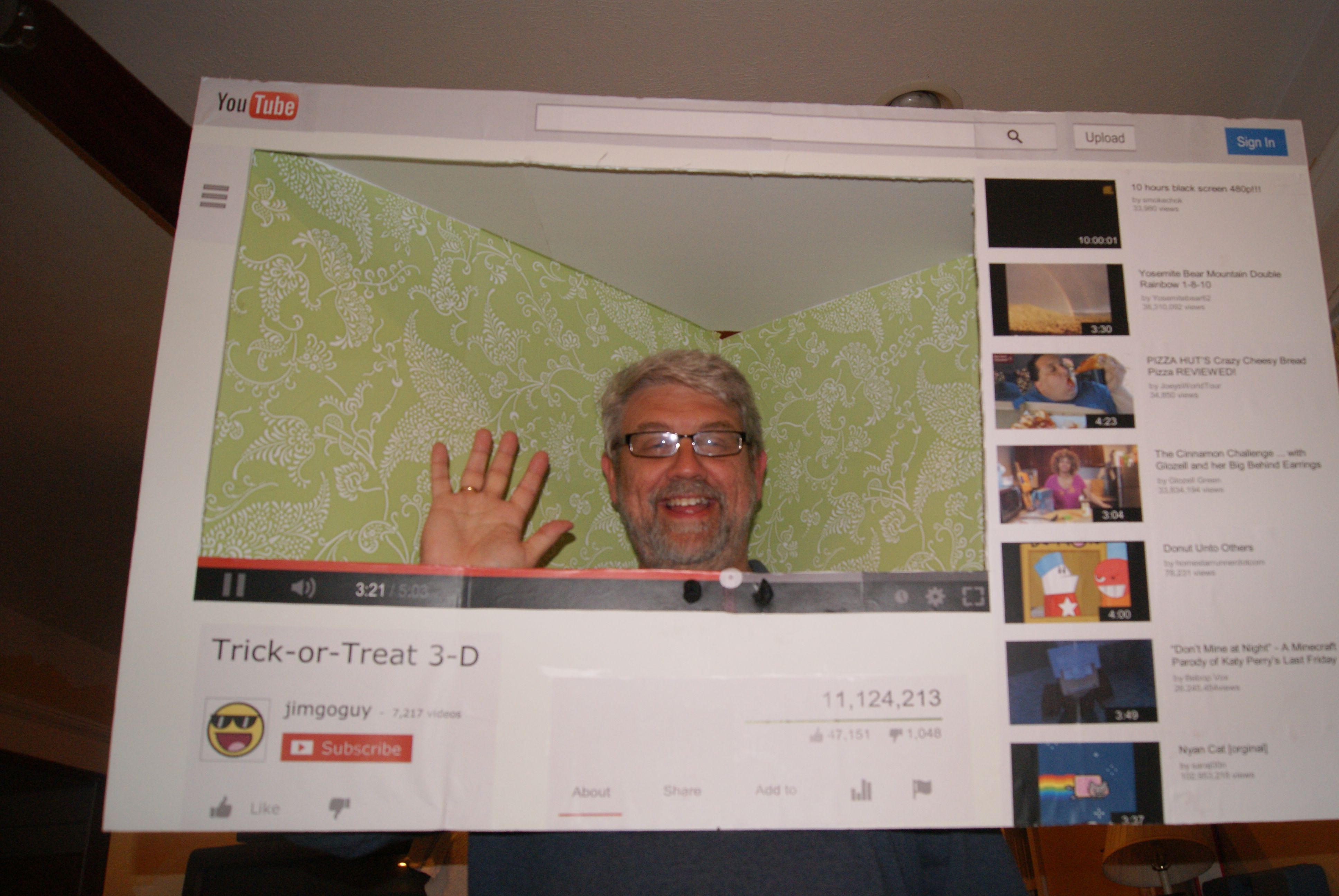 youtube halloween costume this is made from foam board duct tape contact paper