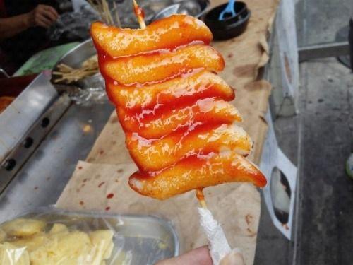 Fried Rice Cake 쌀떡꼬치 풍년쌀농산, Jongno