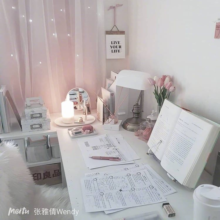 Image About Pink In Motivation By Beautybymadi Study Room Decor Cute Room Decor Aesthetic Room Decor