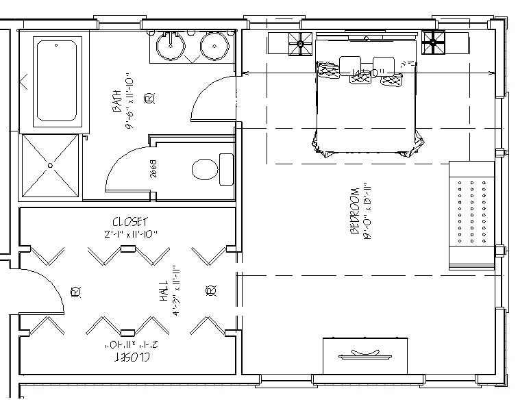Blueprint view of Master Suite Over Garage Addition   Attic master bedroom  plans. master suite plans   More information about 2 Master Suite House