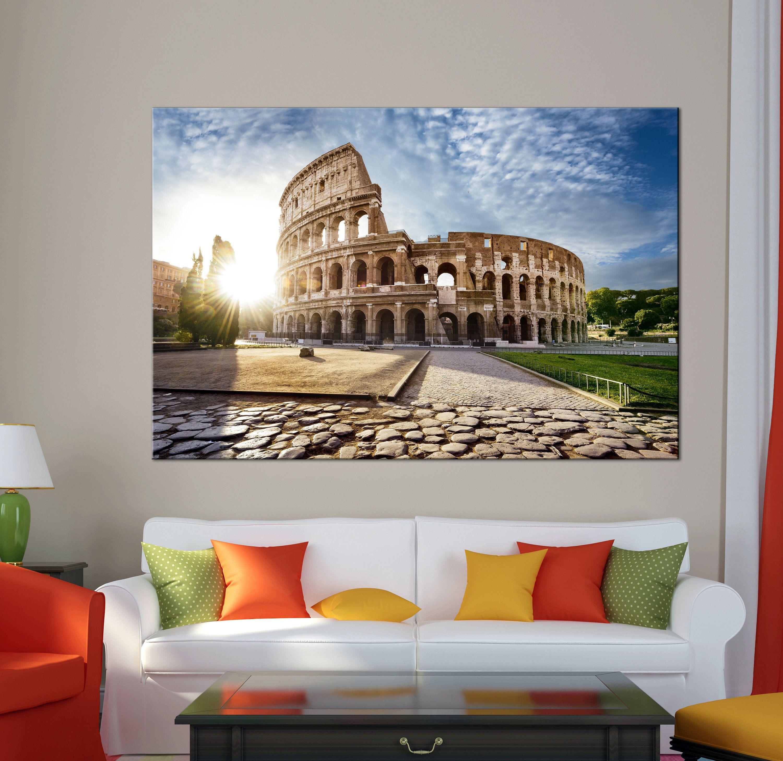 Colosseum Canvas Print Rome Art Italy Canvas Print Ready To Hang Wall Art Multi Panel Colosseum Wall Art Rome Col Rome Art Multi Panel Canvas Art Canvas Prints