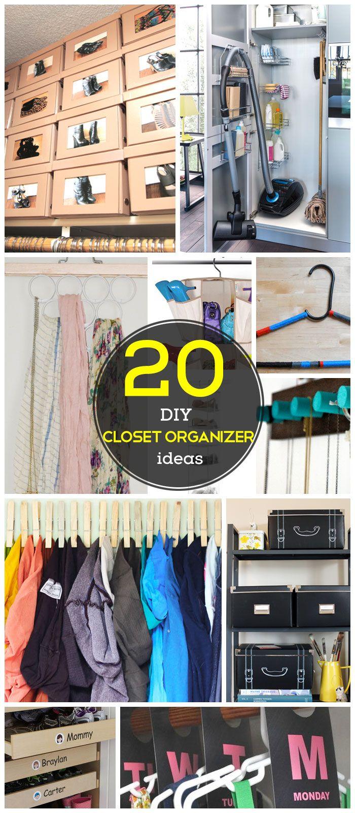 20 DIY Closet Organization Ideas for the Home   DIY Closet Storage Ideas for Small Spaces