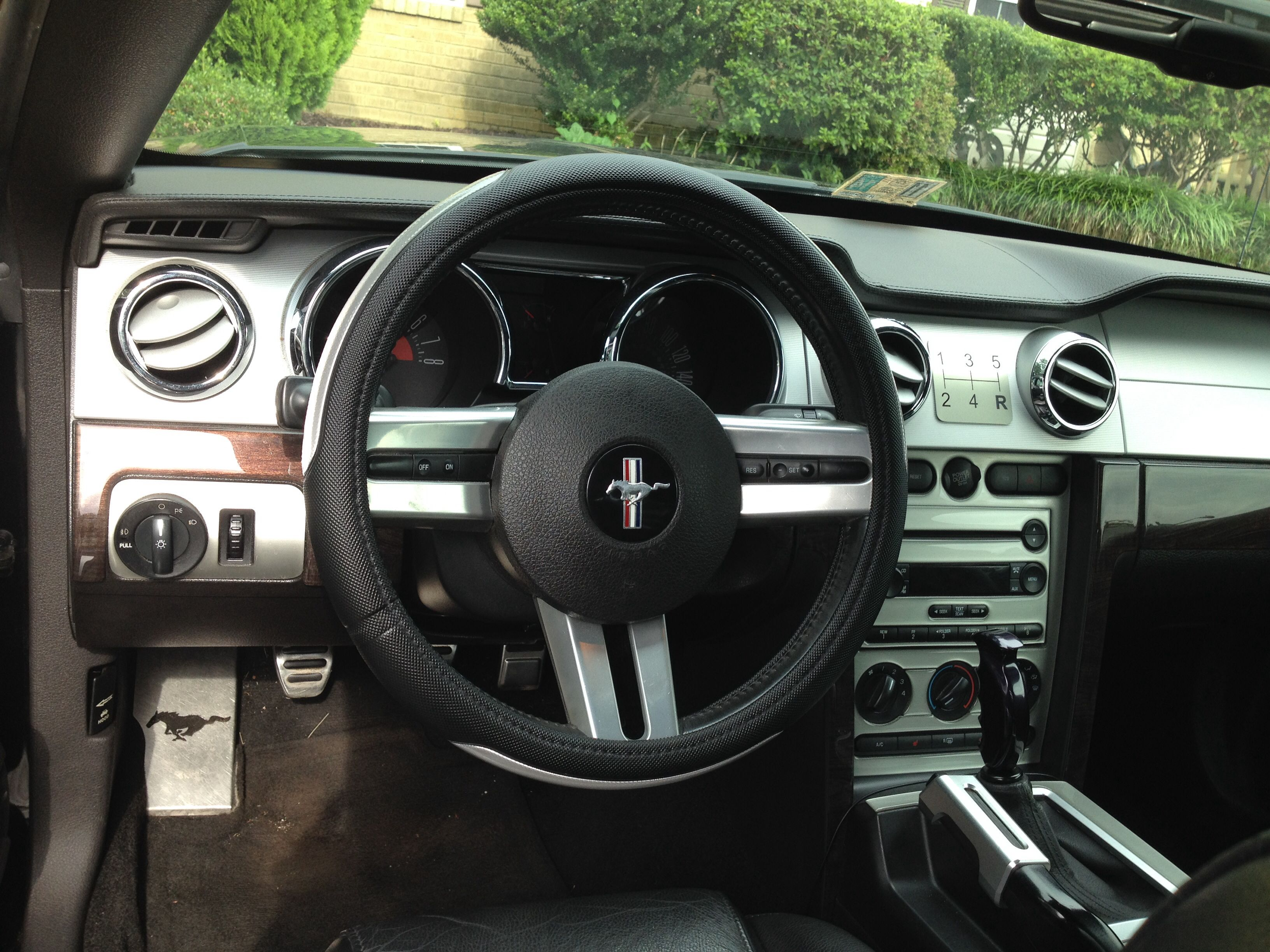 My 2007 Mustang Gt Interior New Steering Wheel Cover And 5 Speed Pattern Dash Plate Other