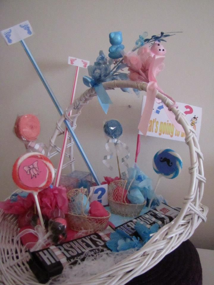 Gift Basket For Gender Reveal Party Baby Shower Gifts New Baby Products Baby Shower