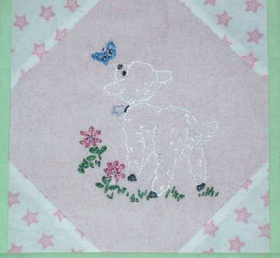 Embroidered Baby Quilt Update Squares Babies And Embroidery